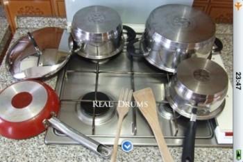 Real Drums per iPhone - Batteria da cucina